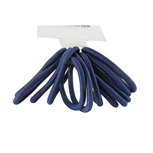 12 Thick Snag Free Endless Hair Elastics Bobbles Ponios Navy Blue