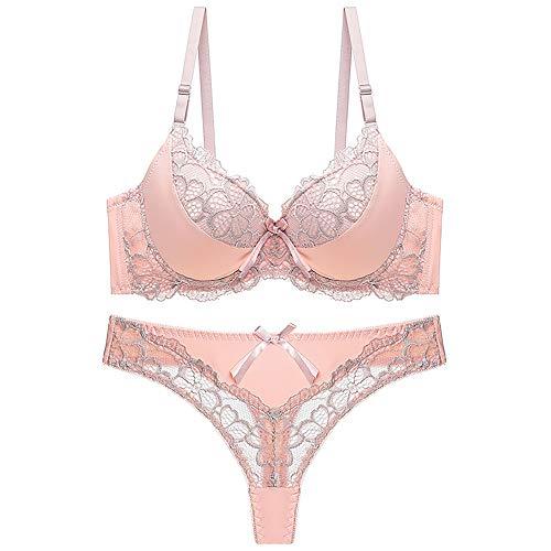 MGIGI Conjunto de Sujetador y Tanga para Mujer Push Up Brassiere Underwear Femme Bragas Lencería Bralette