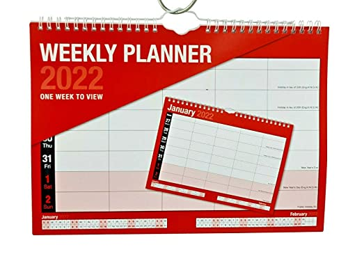 2022 Calendar A4 Week to View Academic Home Office Work Student Family Planner Organiser Week to View W2W