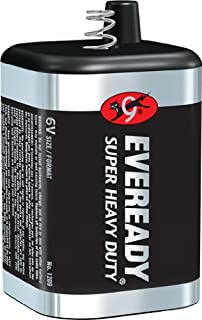 Eveready 6 Volt Lantern Battery, Super Heavy Duty 1209, Long-lasting Power for Camping, Hiking, Outdoors
