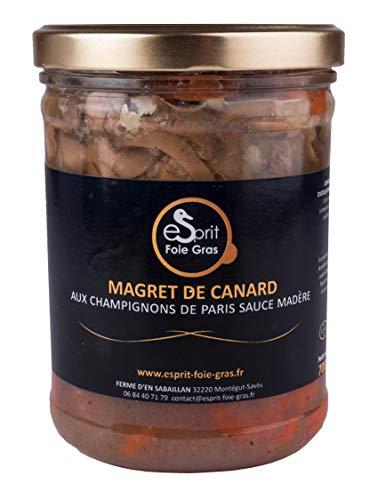 Esprit Foie Gras - Magret de Canard Sauce Madère 700 g - Conserverie familiale du Gers - Plat cuisiné pour 2 personnes - Canard élevé et transformé dans le Gers - Terroir et gastronomie du Sud-Ouest