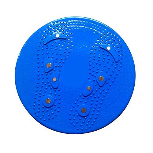 DW007 Fitness-Taille Verdrehscheibe Bilanzkombination Gewichtsverlust Körperformplatte Magnetische Massageplatte Anti-Rutschen und Stall,Blau