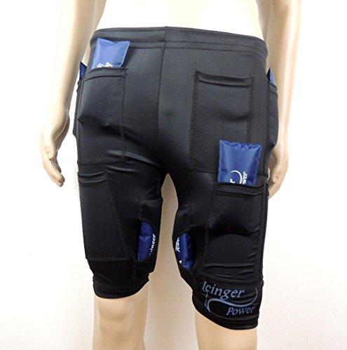 Icinger Power Kühlende Shorts zur Fett-Verbrennung durch Kälte - Eis-Packs inbegriffen - Size XL