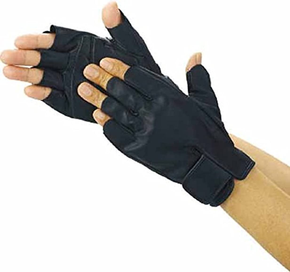TRUSCO(トラスコ) 防振防滑手袋 ハーフフィンガー Mサイズ TPG855-M