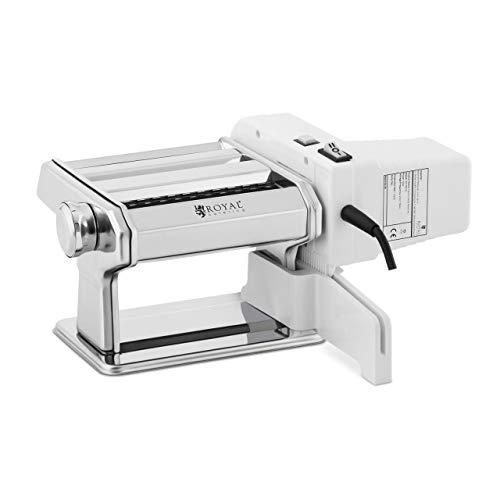 Royal Catering RC-PM1Q Nudelmaschine elektrisch Pastamaker manuell 14 cm Pastamaschine 0,5-3 mm