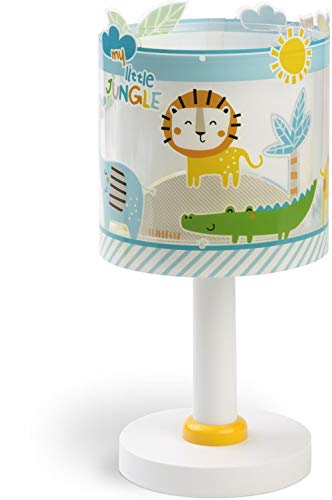 Dalber Lámpara Infantil de Mesilla My Little Animales Jungla, 40 W, Multicolor