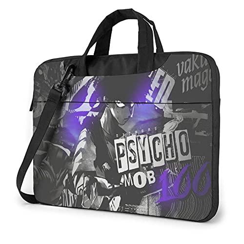 XCNGG Mob Psycho 100 Bolsa de mensajero de hombro para computadora portátil Maletín de transporte Mochila para computadora de tableta Bolso