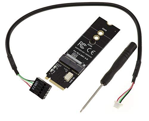 KALEA-INFORMATIQUE - Adaptator modulo M2 A A + E WiFi/Bluetooth a M.2 B+M Key Socket. Compatible Intel 7260.
