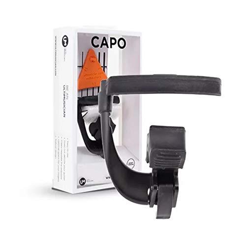 Capo-S, ontwikkeld voor elektrische en western-gitaars. Capodaster voor gitaren met stalen snaren met gebogen radius die je gitaar niet belooft.