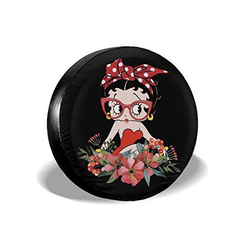 xdbgdfhdhdjdj Betty Boop - Cubierta de repuesto para neumáticos de repuesto, a prueba de agua, a prueba de polvo, para Jeep, SUV, remolque, camper, Rv, 43,18 cm