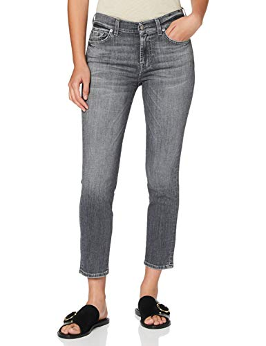 7 For All Mankind Womens Slim Jeans, Grey, 24