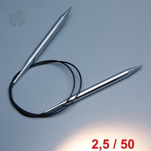 Lana Grossa Rundstricknadel Messing 50cm / 2,5mm