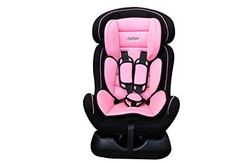 ORIDENT Auto Kindersitz BABYSCHALE BXS 0 bis 25 kg 0+I+II Gruppe-0+1+2 nach Norm ECE 44-04 (Rosa)