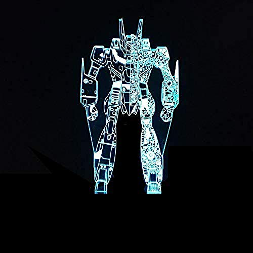 7 kleuren USB energiebesparende touch 3D LED nachtlampje robot kinder/kinderen woonkamer slaapkamer bureau batterij creatieve geschenk LED-lamp