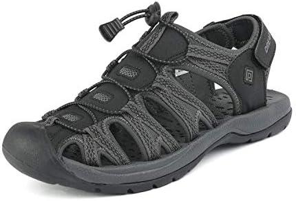 DREAM PAIRS Men s 160912 M NEW Black DK Grey Adventurous Summer Outdoor Sandals Size 10 5 M product image