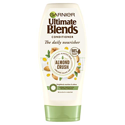 Garnier Ultimate Blends Conditioner Almond Crush With Almond Milk & Agave Sap, 360 ml
