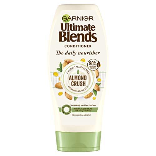 Garnier Ultimate Blends Après-shampooing au lait d'amande et à la sève d'agave pour cheveux normaux, 360 ml