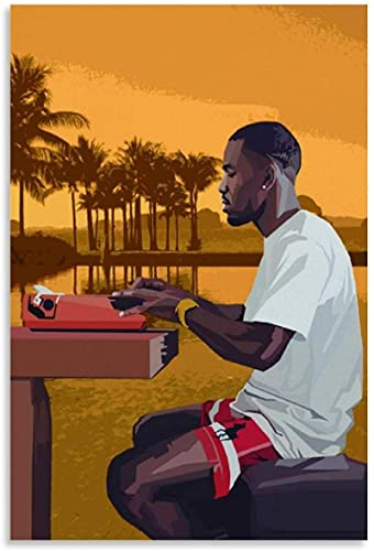 REGF Póster Lienzo artístico60x90cm Sin Marco Cuadro Decorativo del Dormitorio del Cartel de la Sala de Estar de Frank Ocean