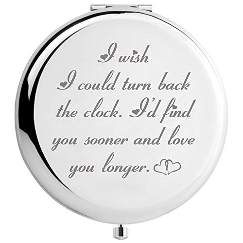 Birthday Gifts for Wife Romantic Travel Mirror, Unique Gift for Her for Wedding Anniversary Mothers...