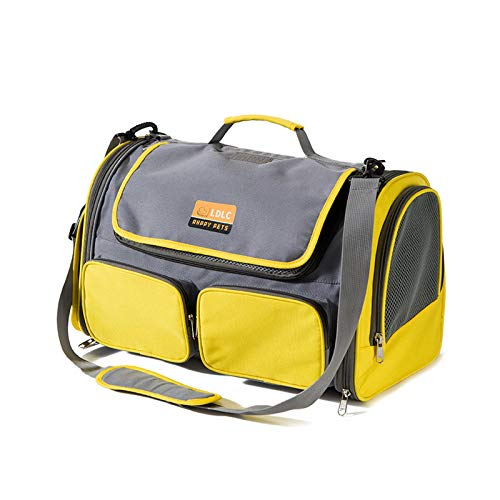 MKOIJN Pet Bags, Backpack Handbag Travel Bags for Cats and Dogs, Portable Foldable and Ventilated Pet Bags for Cats and Puppies, Handbags for Outdoor Travel And Hiking(Yellow)