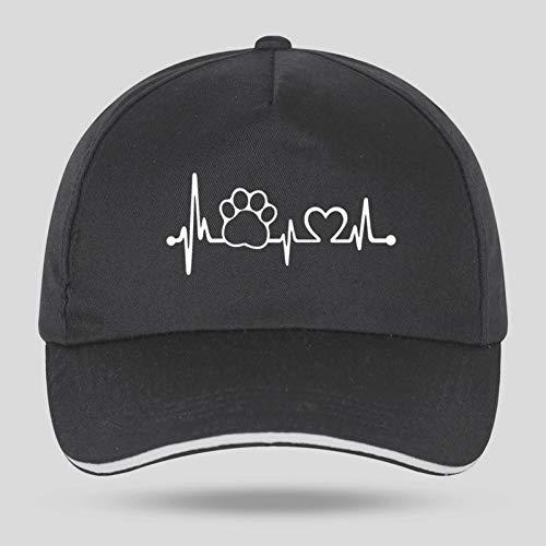 WTHKL Heartbeat Lifeline Monitor Casquettes de Baseball pour Hip Hop Coton Velcro Trucker Cap Os Papa Chapeaux