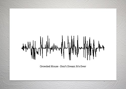 Crowded House - Don't Dream It's Over - Sound Wave Song Art Print - Format A4