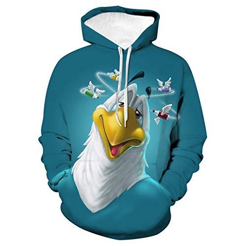 Simmia home Sweat à Capuche 3D Imprimer Pull Sweatshirt,Loose Couple Shirt, Costume de Baseball, Oiseau, 3XL,Décontracté Pullover pour Garçon Fille Ado