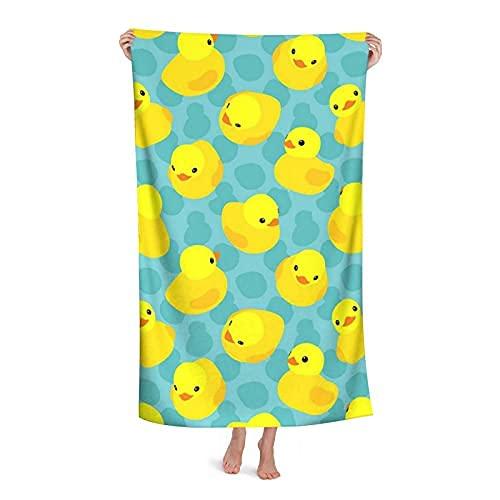 Toallas y mantas de baño Yellow Rubber Duck 2 Beach Towels Oversized Microfiber Bath Towels, Big Beach Towel, Quick Dry, Travel Accessories Gifts, Cute Beach Towel for Women, Cool Beach Towels for Men