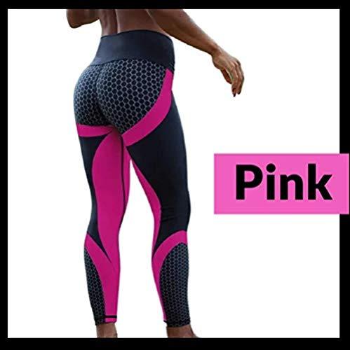 Qingpingzi vrouwen hoge taille Gym legging - volledige kleur anti-cellulitis mesh patroon legging niet te zien door middel van yoga broek voor sportschool, fietsen, yoga, hardlopen