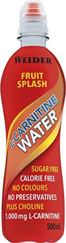 Weider L- Carnitine Water, Fruit Splash, 12 pack, Low - Calorie, Low Sugar