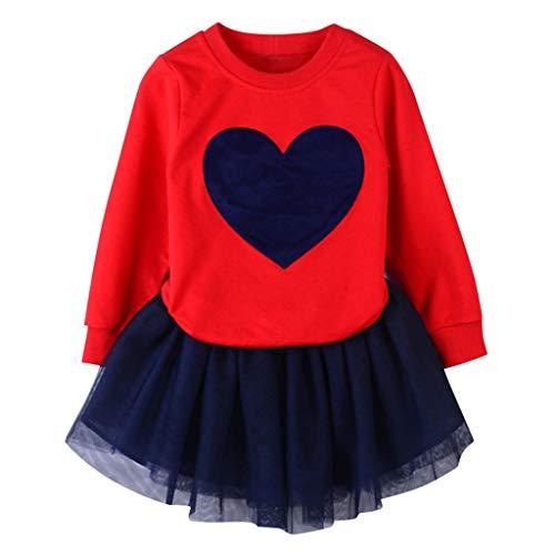 Vectry Vestido De Niñas Princesa Vestido Niñas Bebé Conjuntos De Camiseta Sólida De Manga Larga + Conjuntos De Faldas De Moda Outfits Vestido De Tutú Flores Cumpleaños