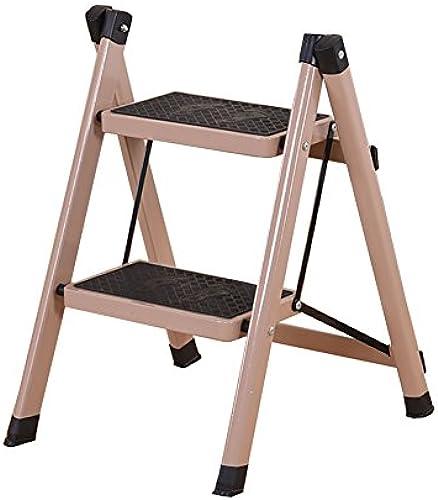 GYH Tritthocker Homewares Folding Step Hocker Leiter für Erwachsene Eisen Wohnzimmer tragbare Lagerung Regal Küche Klapptrittleiter mit rutschfesten Treten ( ) (Farbe   A, Größe   3 Tiers)