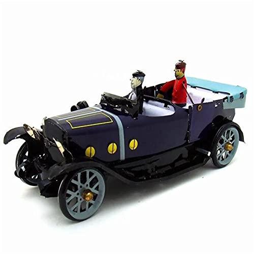 Auto Modelo Coche Convertible Retro Vintage, Juguete De Hojalata, Mecanismo De Cuerda Clásico, Colección De Modelos De Coche, Juguete De Hojalata para Niños Adultos, Regalo Coleccionable