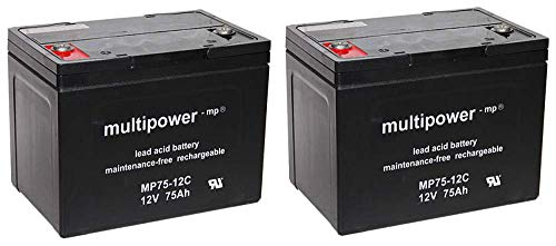 Batterie de Rechange pour Ortopedia Touring 926 2 x 12 V 75 Ah MP75-12C AGM