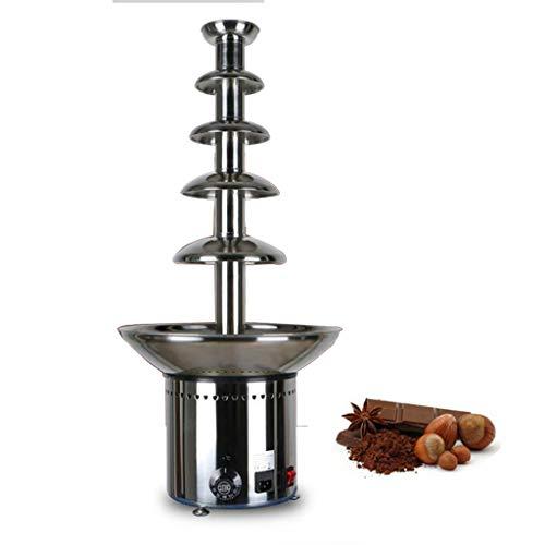 Fontaine à chocolat professionnelle à cinq couches de 80 cm - Fontaine à fondue au chocolat en acier inoxydable 304 - Chauffage et régulation de la température automatiques - Grande capacité de 8 kg