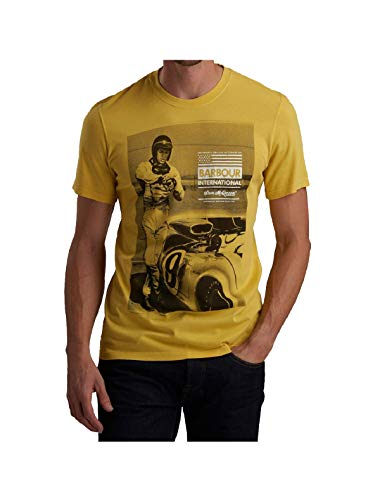 Barbour T-Shirt Uomo b. intl Steve McQueen Jake Washed Yellow ss19 S