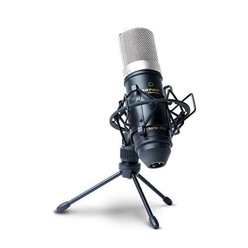 Marantz Professional MPM-1000 - Мicrófono de condensador con soporte de escritorio y cable XLR, para grabaciones de estudio, podcast, streaming y más