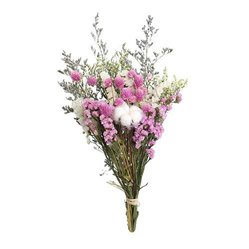 Fenteer Schöne Natürliche Getrocknete Bouquet, Natürliche Blumen Bouquet Rose Baumwolle Eukalyptus Daisy Pflanze Stammen Haufen Hause Eingerichtet, DIYI - Rosa