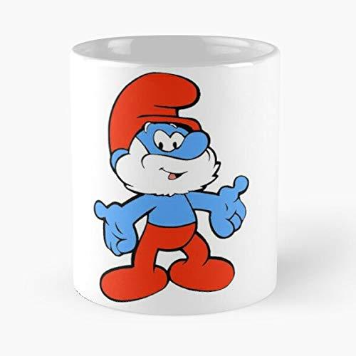 Papa Smurf Best Taza de café de cerámica de 325 ml