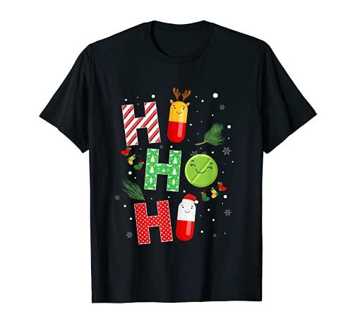 Divertido farmacutico Navidad Ho Ho Ho Pharmacy Technician Tech Camiseta