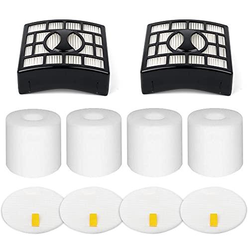 2+4 Pack Vacuum Filters Replacement for Shark Rotator Pro Lift-Away NV500, NV501, NV502, NV503, NV505, NV510, NV520, NV552, UV560, NV642, ZU780, ZU782, ZU785, Replace Part XFF500 XHF500, 2 HEPA Filters + 4 Foam Filters + 4 Felt Filters