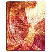 """ドラゴン Wood Pallet Design Wall Art Sign プラーク Red Spiral Graphic Art on プラーク 12"""" x 16"""""""