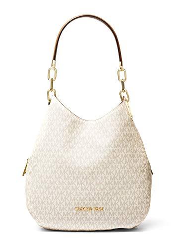 MICHAEL Michael Kors Lillie Large Chain Shoulder Tote Vanilla/Acorn One Size