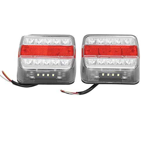 ECD Germany LED Rückleuchten Beleuchtung für Anhänger - 12 V - mit E4 Prüfzeichen - mit 14 LED Leuchte - wasserdicht - Anhängerbeleuchtung Rücklicht
