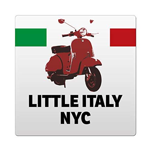 Makoroni - Little Italy NYC Italy Italian Des#4 Ceramic Tile Trivet 4.25x4.25 inc