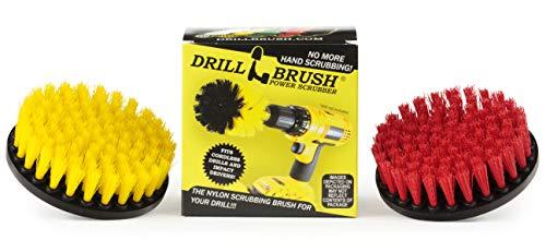 Deck Brush - Pool Brush - Fugenreiniger - Drill Brush - Spin Pinsel Zweiteilige Kit - Fugenreiniger - Beton Vogel-Bad, Sitzbänke, Statuary - Hartes Wasser, Calcium, Erzlagerstätten, Soap Scum