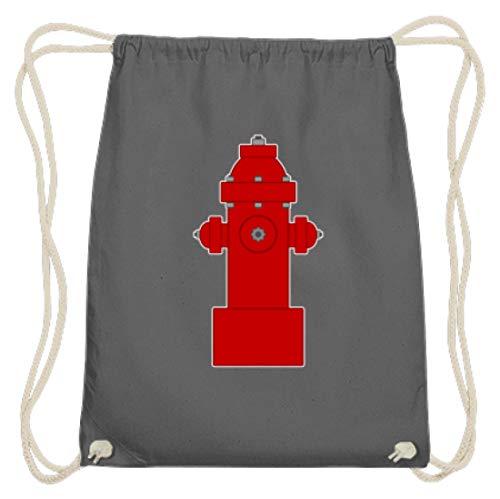 SPIRITSHIRTSHOP - Grifo para bomberos, bomberos, agua, agua y agua, trabajo, trabajo de ensueño, color gris grafito, tamaño 37cm-46cm