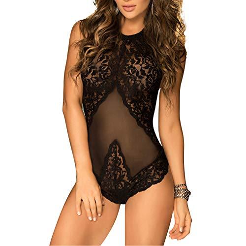 EVBEA Dessous Erotik Damen Spitze Halter Body Sexy Negligee Frau Einteilige Teddy Dessous Nachtwäsche Body Lingerie Damen Sexy Dessous für Frauen für Sex