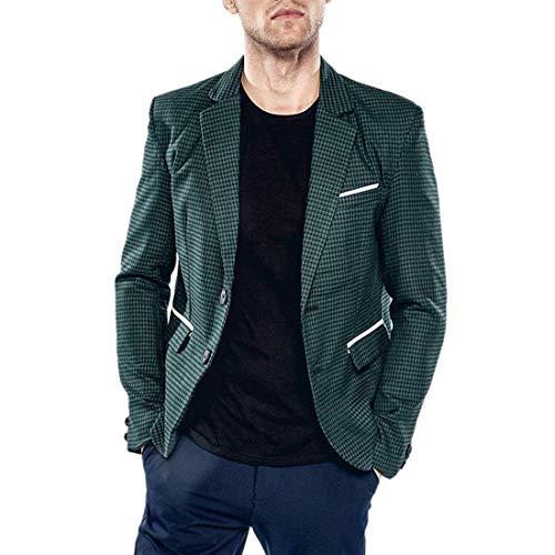 Lannister Fashion Los Hombres De Los Hombres Delgados Ajustados Dos Botones Escudo De Pata Ropa De Gallo Traje Blazer Ocio Blazer Hombres Casual Chaquetas De Negocios