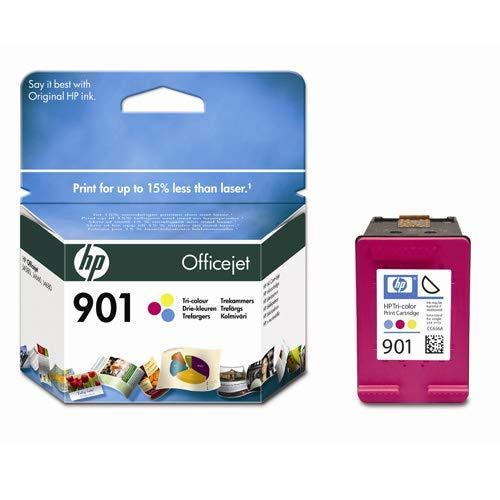 HP Cartucho de tinta N°901 (CC656AE) - cian, magenta, amarillo (Reacondicionado)